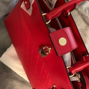 Mk red hand bag